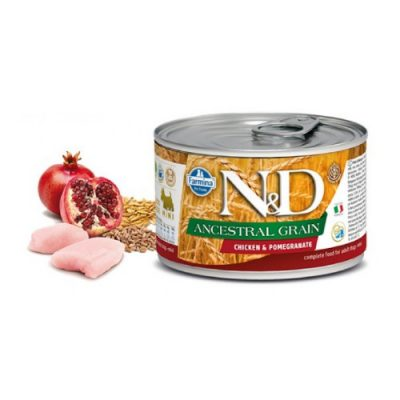 N&D LOW GRAIN WET CHICKEN & POMEGRANATE 140GR (12 TEMAXIA)