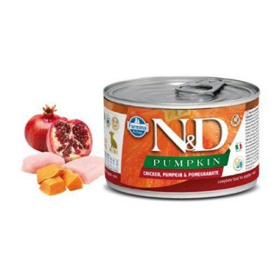 N&D PUMPKIN WET CHICKEN PUPPY 140GR (12 TEMAXIA)