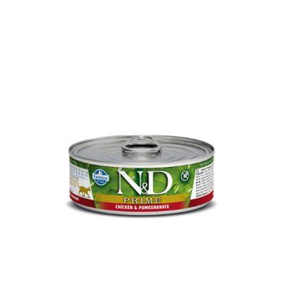 n&d PRIME WET CHICKEN & POMEGRANATE 80GR (12τεμαχια)