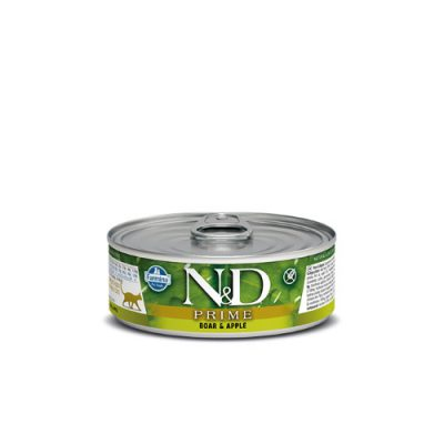 n&d PRIME WET BOAR & APPLE 80GR (12τεμαχια)