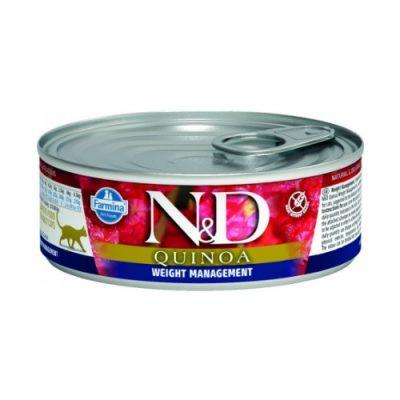 N&D Quinoa Cat Wet Weight Managment 80gr (12τεμαχια)