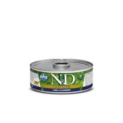 n&d PRIME WET LAMB & BLUEBERRY 80GR (12τεμαχια)