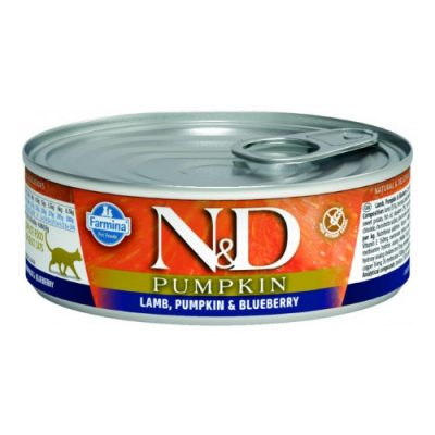 n&d PUMPKIN WET LAMB & BLUEBERRY 80GR (12τεμαχια)