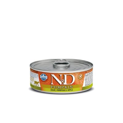 n&d PUMPKIN WET BOAR & APPLE 80GR (12τεμαχια)