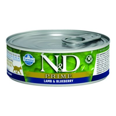 n&d PRIME WET LAMB & BLUEBERRY 80GR (12τεμαχια)