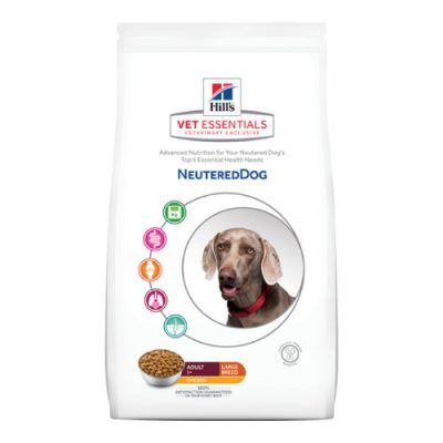 Vet Essentials Canine Adult Neutered Dog Large Breed Chicken 12Kg