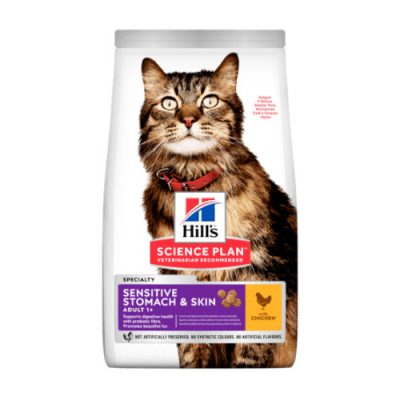 HILLS SCIENCE PLAN Adult Cat Sensitive Stomach&Skin Chicken 1.5kg