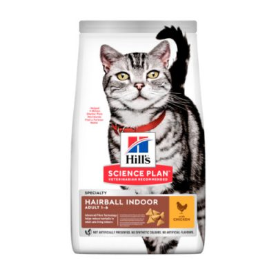 HILLS SCIENCE PLAN Adult Cat Hairball & Indoor Chicken 1.5kg