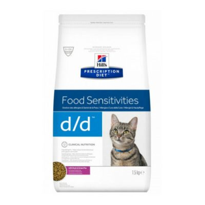 Hill'S Prescription Feline D/D Duck &Amp; Green Pea 1,5Kg