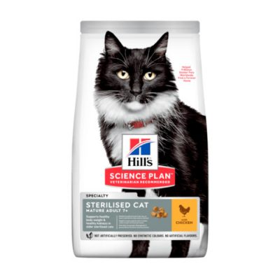 HILLS SCIENCE PLAN Mature Adult Sterilised Cat Chicken 3kg