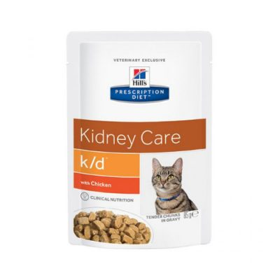 Hill'S Pescription Diet Feline K/D Με Κοτοπουλο 24X85Gr Φακελακι)