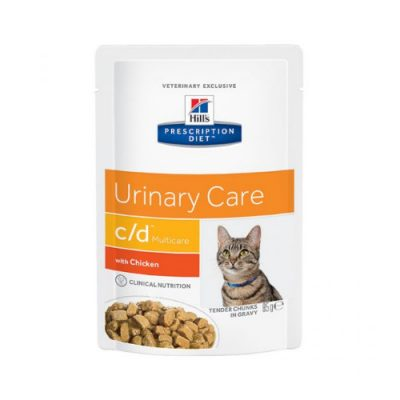 Hill'S Prescription Diet Feline C/D Multicare Urinary Care Κοτόπουλο 24X85Gr