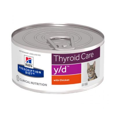 Hill'S Prescription Diet Y/D Thyroid Care Με Κοτοπουλο 24X156Gr