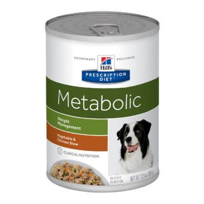 Pd Canine Metabolic Stew Chick,Veg 12X354Gr