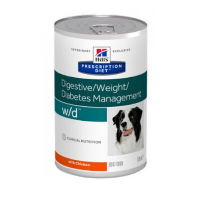 PD Canine w/d  DIGESTIVE /WEIGHT /DIABETES MANAGEMENT 12x370gr