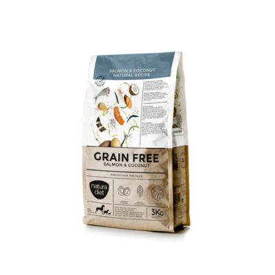 NATURA DIET GRAIN FREE SALMON & COCONUT NATURAL RECIPE 3KG