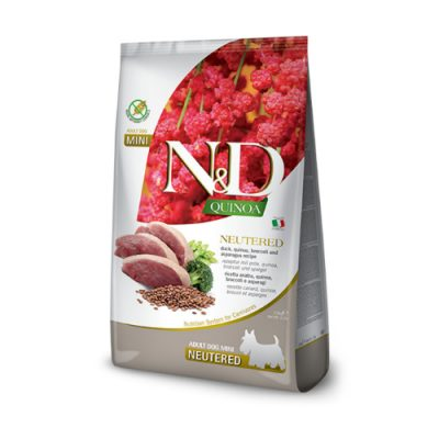 N&D DOG QUINOA NEUTERED  DUCK 2,5 KG