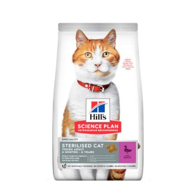 HILLS SCIENCE PLAN Young Adult Sterilised Cat Duck 1.5kg