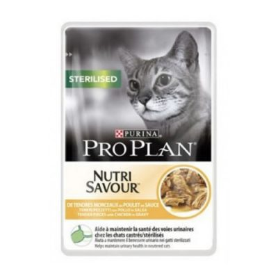 Pro Plan Sterilised Nutrisavour Κοτοπουλο Σε Σαλτσα 85Gr (40 Τεμαχια)