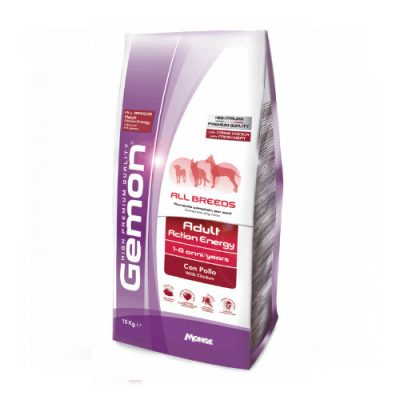 GEMON ALL BREEDS ADULT ACTION ENERGY WITH CHICKEN 15KG