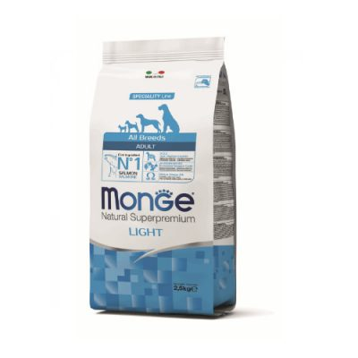 Monge Dog Adult Light All Breeds Salmon & Rice 12Kg
