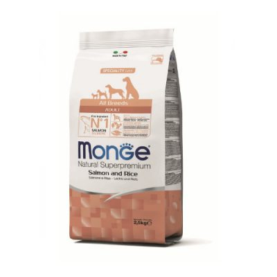 Monge Dog Adult All Breeds Salmon & Rice 12Kg