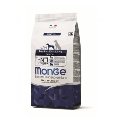 Monge Dog Senior Medium Chicken 12Kg