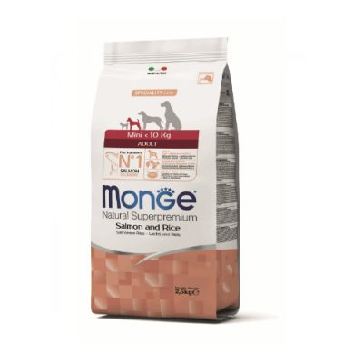 Monge Dog Adult Mini Salmon & Rice 2,5Kg