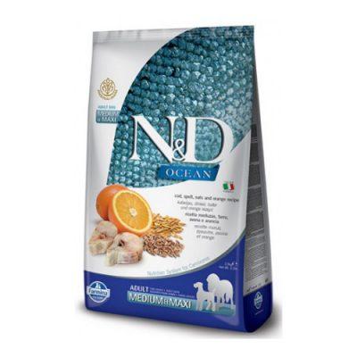 N&D Low Grain Fish & Orange Adult Mini 2,5 Kg