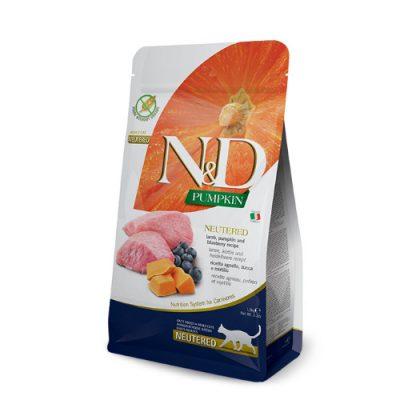 N&D Pumkin ,Lamb & Blueberry neutered adult 5kg